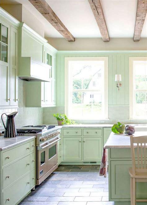 cocinas integrales verdes  en color verde refrescantes