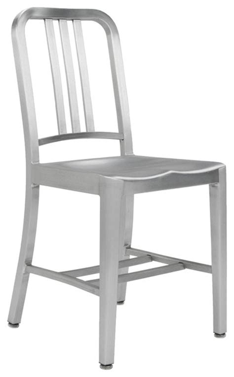 army brushed aluminum chair modern dining chairs