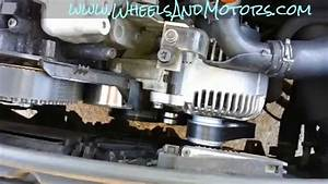 How To Replace Auxiliary Belt  Poly V