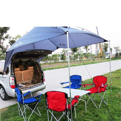 pcs portable outdoor camping equipment waterproof large awning sun shade shelter family beach