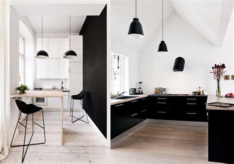 decoration cuisine noir et blanc décoration cuisine blanc