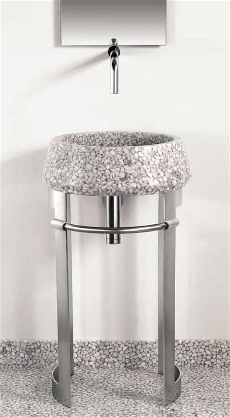 pedestal sink with metal legs modern sheet metal pedestal sink from effepimarmi new leg