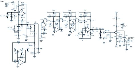 Bass Guitar Preamp Pedal Diy Schematic Pcb Design