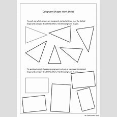Congruent Shape Worksheet By Christasker  Teaching Resources Tes