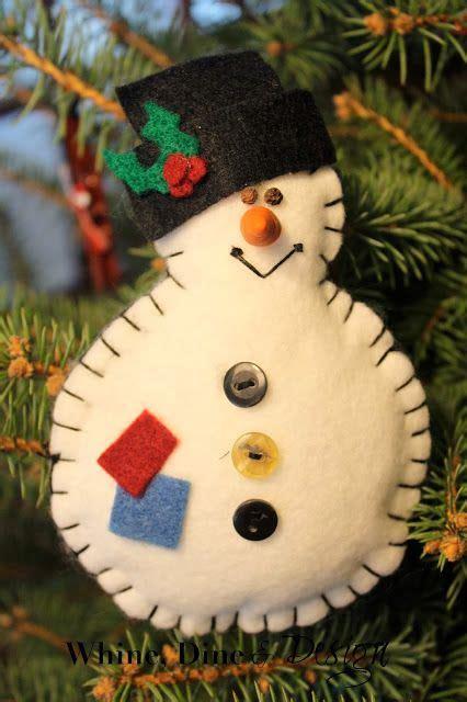 felt snowman christmas ornament easy felt christmas