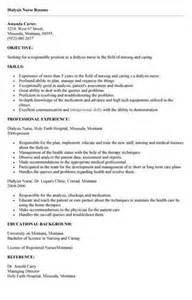 resume tips for dialysis technician dialysis resume objective