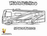 Coloring Camper Rv Pages Printable Recreational Truck Vehicle Campers Vehicles Camping Motorhome Google Rvs Silhouette Boys Kidsuki Winnebago Cameo Drawings sketch template