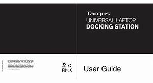 Targus Universal Laptop Docking Station User Manual Pdf