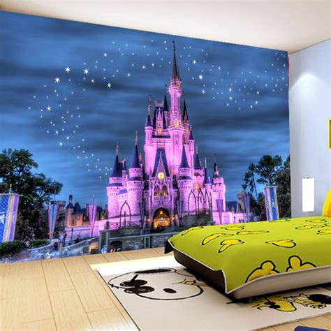 custom 3d photo wallpaper for kids 39 room sofa backdrop wall papers 3 d cartoon castle starry sky
