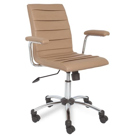 leick saddle faux leather pleated desk chair home