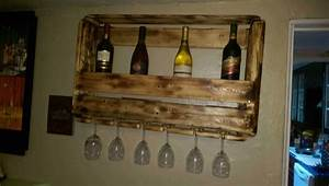 need more wine make a wine rack o 1001 pallets With best brand of paint for kitchen cabinets with wine bottles candle holders
