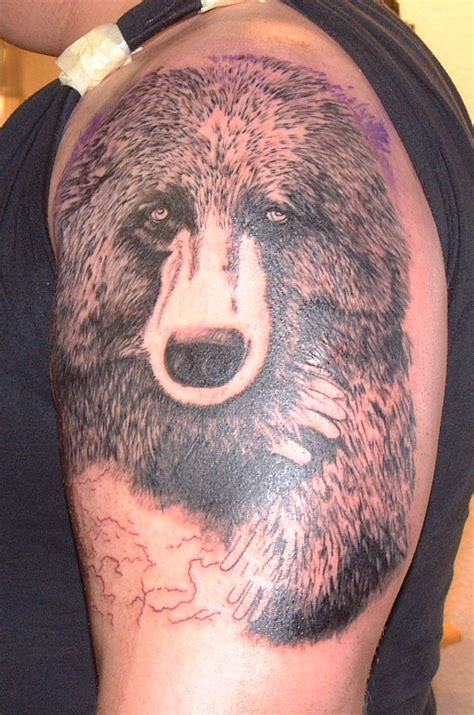 wild tattoos bear tattoo ideas