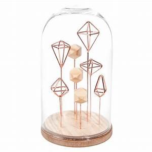 Cloche Verre Deco : cloche d co en verre h 21 cm graphique maisons du monde ~ Teatrodelosmanantiales.com Idées de Décoration