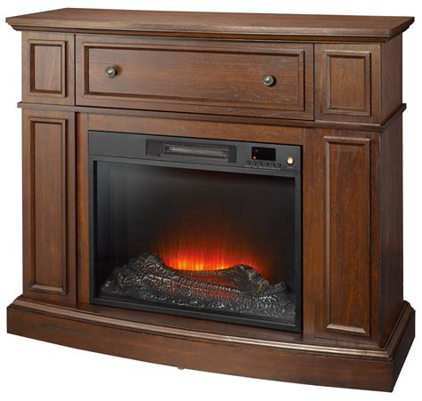 Essential Home Shaw Electric Fireplace Cherry