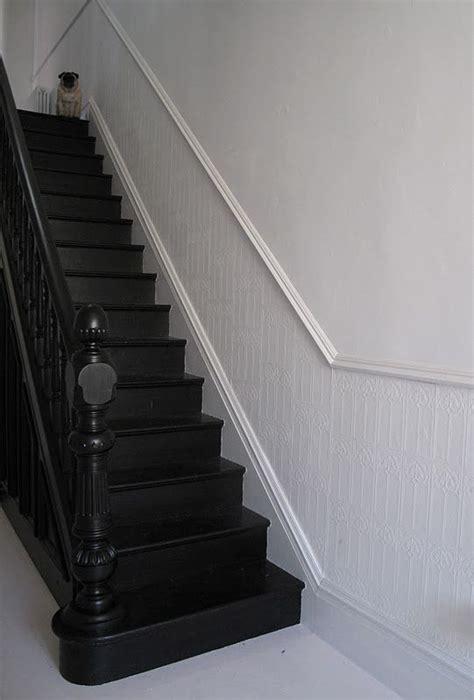 escalier en bois peint en noir escaliers pinterest