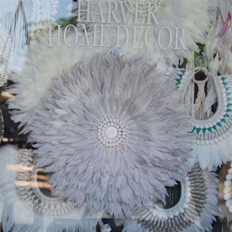 grey goose feather cm harver home decor