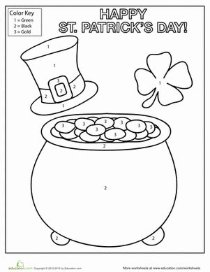 st s day coloring worksheet education