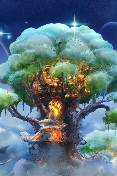 Fantasy Tree Magic Iphone Background Fictional 4s