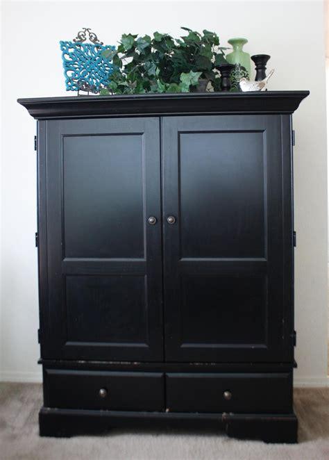 sale solid wood black tv armoire