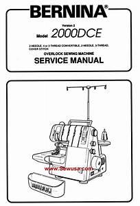 Bernina 2000 Dce Service Manual