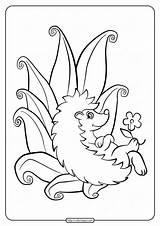 Hedgehog Coloringoo sketch template