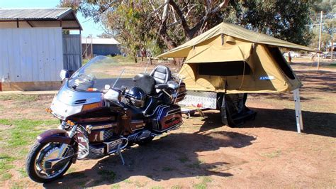 goldwing motorcycle camper trailer youtube