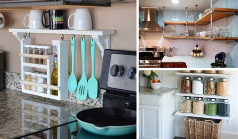 interesting  practical shelving ideas   kitchen