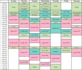 College Student Study Schedule