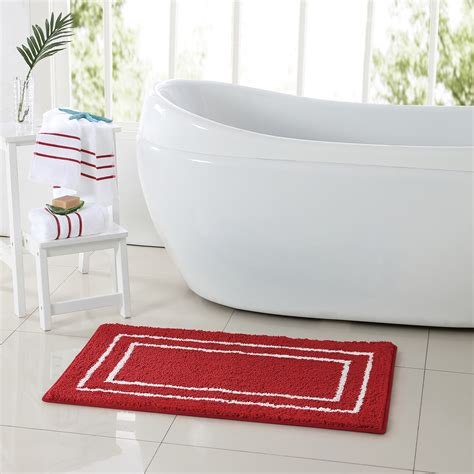 colormate guest 3 pc rug towel set red sears