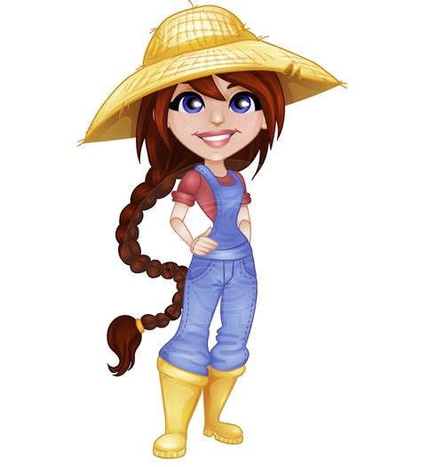 dianne   farm  female cartoon character depicted