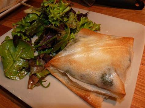 saumon et 233 pinards en p 226 te 224 brick recette