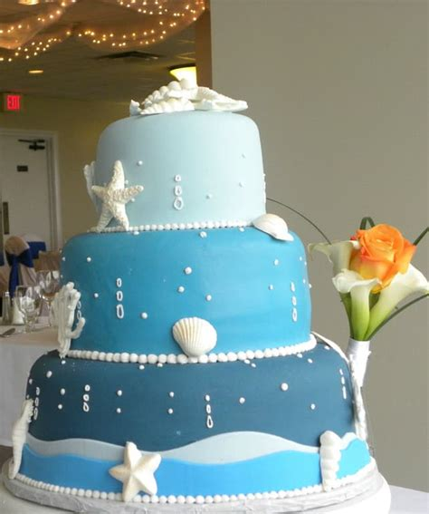 Beach Theme Wedding Cake Photos Destination Wedding Details