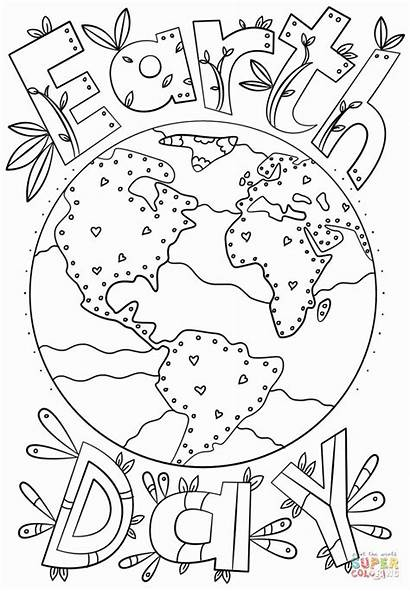 Earth Coloring Printable Doodle Adult Sheets Terra