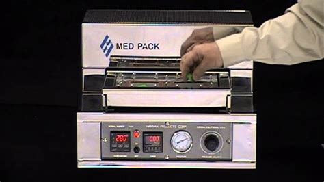 med pack  mbx medical packaging blister sealing machine youtube