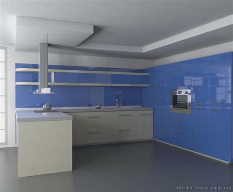 Modern Blue Kitchen Cabinets   Pictures & Design Ideas