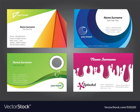 Modern Colorful Business Card Designs Royalty Free Vector Business Card Psd Layout Nightclub Online Printing Services In India Outlook Not Updating Scanners Best Paper Airplane Foil Mockup Visiting For Bag
