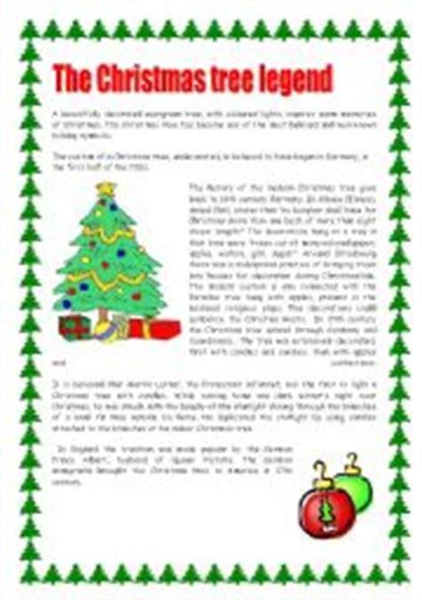 christmas pickle story printable english teaching