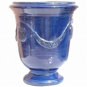 Pot En Terre Cuite émaillée : vase d 39 anduze terre cuite maill e bleu fonc terre figui re ~ Dailycaller-alerts.com Idées de Décoration