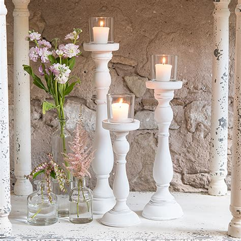 assorted vintage style place card shabby chic white candle holder set event decor