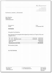 Freelancer Rechnung : musterrechnung freiberufler ohne umsatzsteuer musterrechnung freiberufler rechnung schreiben ~ Themetempest.com Abrechnung