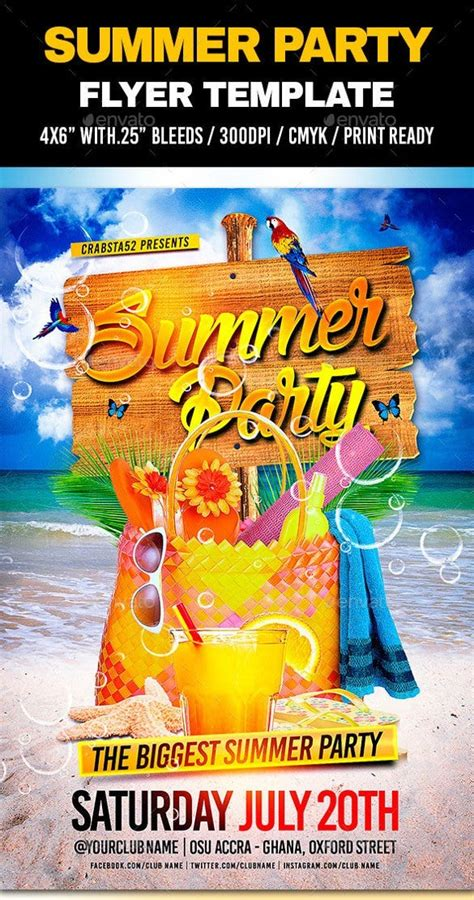 Summer Flyer Template Free Download Never Underestimate ...