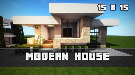 Modernes Haus Bauen  15 X 15  Minecraft Tutorial Youtube