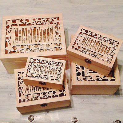 haircut keepsake box laser cut personalised name wooden keepsake box