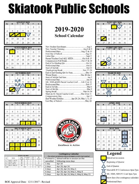 skiatook public schools district calendar