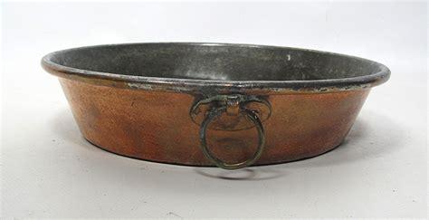 antique  primitive hand wrought copper cookware tin lined pot pan  yqz ebay