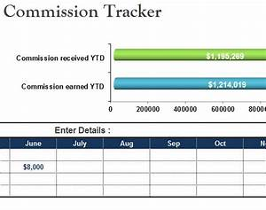 Ledger Template Commission Tracker Sheet My Excel Templates