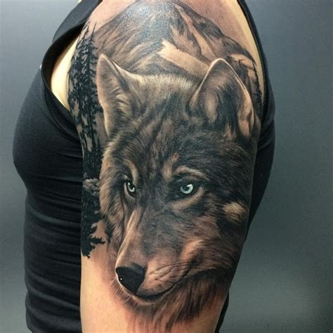 wolf oberarm cool ideas for and