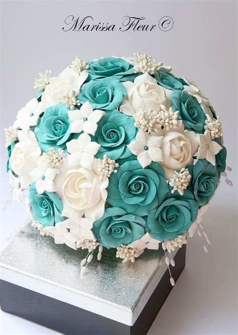 teal wedding bouquet bridal bouquet and groom s boutonniere with turquoise 7931