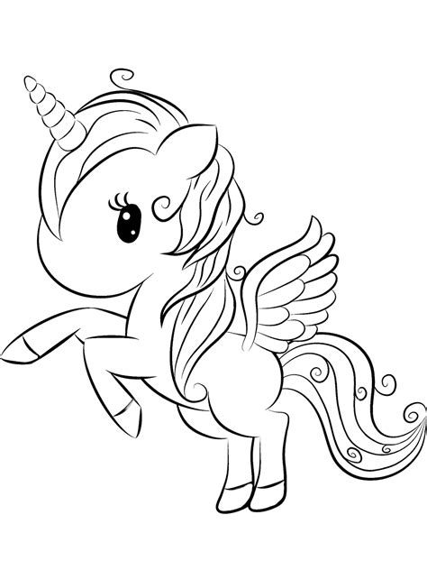 unicorn coloring page  printable coloring pages  kids