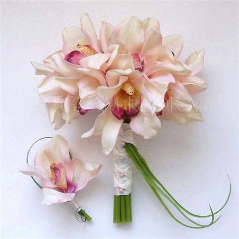 cymbidium orchid wedding bouquet medium bride maid